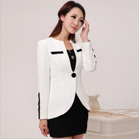 Wholesale Korean Style Ladies Blazer - Wholesale-Free Shipping 2015 New Arrivel Autumn Women's Blazers Slim Ladies Suits Solid Korean Style Multi Size Color Low Price(WS032)