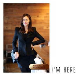 Wholesale Women S Blazer Tails - Wholesale-2015 New Korean Fashion Stylish Womens Ladies Girls Suit Blazer Swallow Tail Power Shoulder Coat Jacket