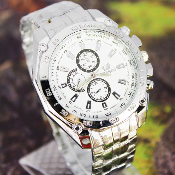 Wholesale- Curren Date Japan Movt Stainless Watch new Stainless Steel Wrist Watch Sport style  Mens watches Free Shipping NW10