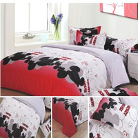 Wholesale Kids Queen Size Comforter - Wholesale-Mickey Mouse Kids Bedding Set Printed Polyester Duvet Cover Twin Full Queen Size Cartoon Comforter Cover