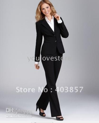 2017 Wholesale Black Women Suit Women Business Suit Women Desinger ...