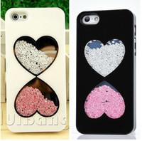 Wholesale Defender Case 4g - 2015 New Brand Bling Diamond Colorful Crystal Stripes Couple Hard Back Cases Cover For Apple iphone 4 4G 4S Defender Skin 0171