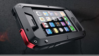 Wholesale Aluminum Iphone5 - Wholesale-Best quality for iphone5 iphone 5s EXTREME rainproof Shockproof Dirtproof Aluminum case Metal cover with Gorilla Glass