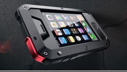 Canada Gros-Meilleure qualité pour iphone5 iphone 5s EXTREME étanche à la pluie Antichoc Dirtproof Boîtier en aluminium Couvercle en métal avec verre Gorilla cheap aluminum iphone5 Offre