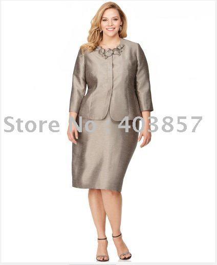 Wholesale-Women Suit Plus Size Women Suit Rosette Shantung Jacket ...