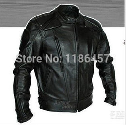 Wholesale Mandarin Collar Leather Jacket - Wholesale-HOT PU mandarin collar Men's Black Solid Leather Motorcycle Biker Jacket. Sizes S To XXL all size available