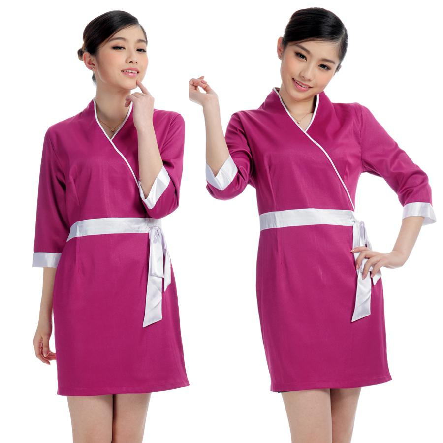 2019 wholesale free ship mr014 work wear summer clothes for Uniform spa therapist