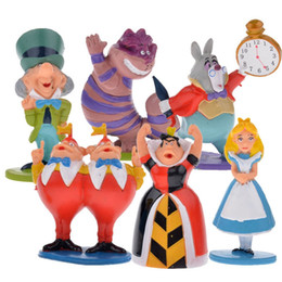 Wholesale Cake Set Toys - Wholesale-6 `` Details about min Alice in Wonderland PVC Cake Toppers Figure Toy 6 pcs set JXU