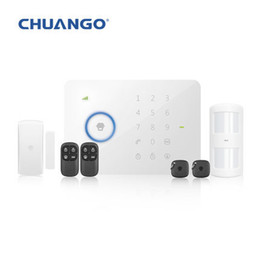 Wholesale Security Alarm System G5 - Wholesale-Wireless SMS Alarm System Original Chuango G5 315MHz Standard Home Security Sopport GSM SMS
