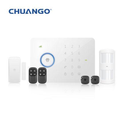 Wholesale-Wireless SMS Alarm System Original Chuango G5 315MHz Standard Home Security Sopport GSM SMS