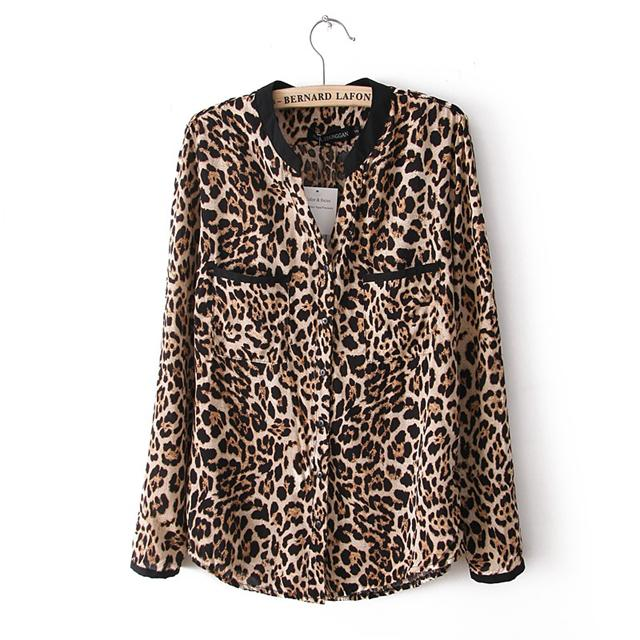 a6df0b38025 Hot Sale 2016 New Fashion Women Star Print Leopard Print Chiffon Blouse  PLUS SIZE Y3461 Blouses Star Print Leopard Print Online with  42.58 Piece  on ...