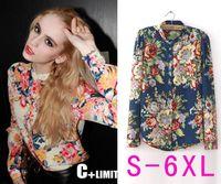 Wholesale Work Shirts Xxl - Wholesale-New 2015 blusas femininas shirt Women Blouse 2 color plus size blusa Casual Women Work Wear Tops S M L XL XXL XXXL XXXXL 5XL
