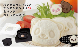 Wholesale Craft Sandwich Plastic Mold Cutter - Wholesale-Free Shipping Cute Smiley Face Panda Sandwich Mold Bread Cake Mold Maker DIY Mold Cutter Craft-Gift,wholesale,2set Lot 200g set