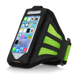 Wholesale Sports Cell Phone Covers - Wholesale-Gym Jogging Running Sport Bag Armband For iPhone 5 5s Cell Phone Workout Accessory Case Cover suporte para celular braco