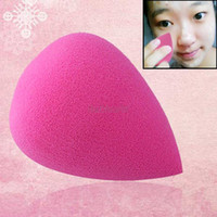 Wholesale Teardrop Cosmetic Sponges - Wholesale-ES1014 beauty lady makeup foundation cosmetic facial soft sponge teardrop powder puff