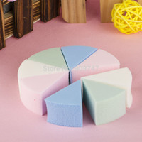 Wholesale Triangle Makeup Sponges - Wholesale-8pcs pack,Triangle shaped candy color soft Magic Face Cleaning Pad Puff Cosmetic Puff Cleansing sponge wash face makeup sponge