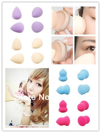 Éponge De Maquillage Pas Cher-Gros-gros! Maquillage 16pcs Fashion Sponge Blender Flawless Lisse en forme de cosmétiques Water Droplets Hour Glass Puff Fondation HBA