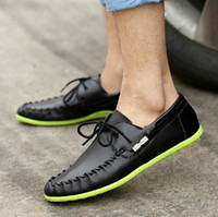 Wholesale Sailing Boat Shoes - Wholesale-2015 new men casual shoes boat shoes moccasins leather fashion trend casual men sailing shoes peas shoes flats man