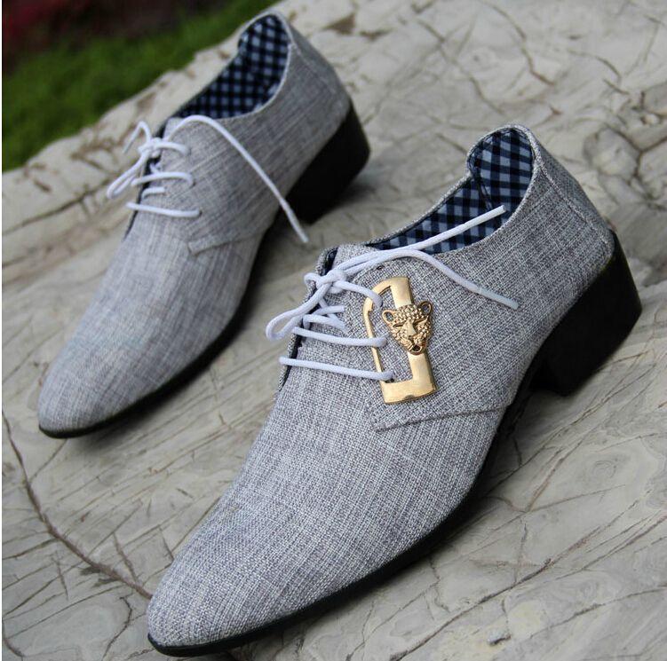 866601b9a8f68 Acheter Gros Mode Pour Hommes Robe Chaussures Homme D affaires Chaussures  De Mariage Chaussures Automne Lace Up Couverture De Tissu Hommes Pointu  Chaussures ...