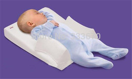 Wholesale Sleep Pillows - Wholesale-Hot Sale Baby Infant Newborn Anti Roll Pillow Ultimate Sleep Positioner System Prevent Flat Head Cushion Free Shipping
