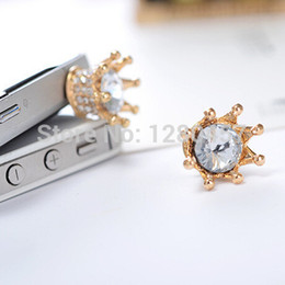Wholesale Dustproof Plug Crown - Wholesale-Free Shipping Mobile Phone Dust Plug Korean Crown the Dustproof Plug Phone Accessories