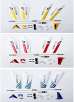 Wholesale Rc Helicopter Tail - Wholesale-Full Replacement Parts Set for Syma S107 S107G RC Helicopter(Blades,Tails,Balance Bar,Shaft,Gears) 4Q117