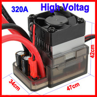 Wholesale Esc Brush Rc - Wholesale-High Voltage ESC Brushed Speed Controller for RC Car Truck Boat 320A 7.2V-16V Free Shipping