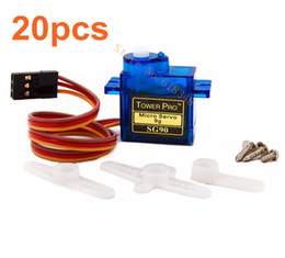 Wholesale Rc Planes 9g Servo - Wholesale-20pcs  lot TowerPro SG90 Servo Motor Micro 9g Tower Pro Mini RC aeromodelismo Helicopters Heli Planes Parts With Traking Number