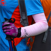 Wholesale Uv Sunscreen Sleeves - Wholesale-Free Shipping 125 HICOOL Sunscreen Golf cuff Sports Arm Sleeve Sun Protection UV Protector Sports Sleeve 10pcs lot