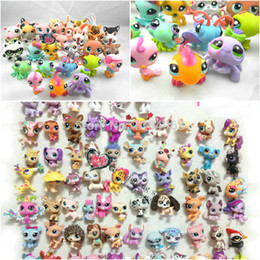 Wholesale Random Shopping - Wholesale-Free Shipping 20pcs lot LPS Action Figures Factory 3cm Baby Toys Mini Random Little Pet Shop Toys For Boy Girl Christmas Gift