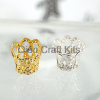 Wholesale Wholesale Filigree Supplies - Wholesale-1000pcs (6mm-12mm) mixed colors and sizes Filigree cup Floral Bead Caps vintage style jewelry findings, jewelry making supplies