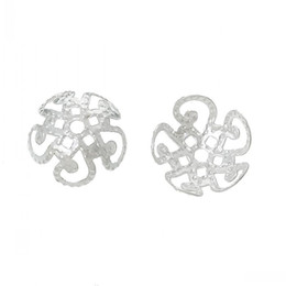 Canada Perles Casquettes Fleur Argent Plaqué (Fit Perles 10.0mm) 10.0mm x 10.0mm, 1000 PCs 8seasons cheap bead caps Offre