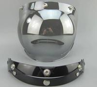 Wholesale Visors Motorcycle Shipping - Wholesale-Free Shipping Motorcycle Helmet Vintage helmet glass Helmet Bubble Visor Jet helmet visor