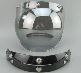 Wholesale Vintage Motorcycle Glasses - Wholesale-Free Shipping Motorcycle Helmet Vintage helmet glass Helmet Bubble Visor Jet helmet visor