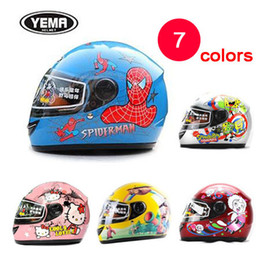 Wholesale Motorcycle Helmet Blue White - Wholesale- High-grade children full face kids motorcycle helmet children warm winter kid helmet