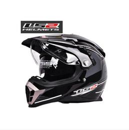 Wholesale Ls2 Helmets Uv - Wholesale-Free shipping 1 Pc LS2 MX455 Motorcycle Helmet double lens Fog UV protection Motocross Helmet