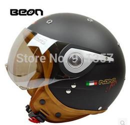 Wholesale Vespa Helmets - Wholesale-2015 vintage off road motorbike men feminino motorcycle helmet vespa casco capacete Beon open face capacetes motociclistas