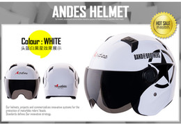 Wholesale Motorbikes Helmets - Wholesale-2015 Motorcycle Helmet Capacete Mototcycle Motorbike Half Face Anti-UV Summer Motorcross Helmet Hat