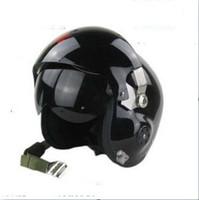 Wholesale Motorcycle Flight Helmets - Wholesale-Pilot helmet fighter ver5 motorcycle ride helmet flight helmet