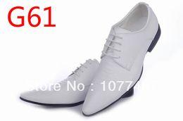 Bridegroom Wedding Shoes Canada - Wholesale-Italian Mens White Blucher Wingtip Dress Shoes Gentleman Leather Shoes For Men Wedding Bridegroom G121906