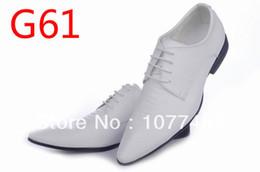 Wholesale bridegroom shoes - Wholesale-Italian Mens White Blucher Wingtip Dress Shoes Gentleman Leather Shoes For Men Wedding Bridegroom G121906