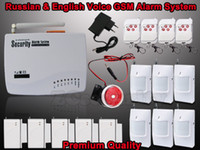 Wholesale Manual Home Alarm System - Wholesale-Support Russian,English voice,User manual,home security gsm alarm system High quality Free shipping