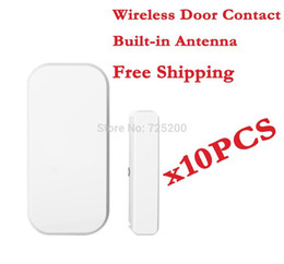 Wholesale Free Windows System - Wholesale-wireless alarm door window contact sensor detector 433mhz for home alarm system, built-in antenna,10pcs lot, free shipping