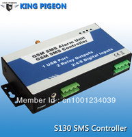 Wholesale Sms Pump - Wholesale-UseGSM SMS controller iphone ios APP to control your house,motor,pump,valve,tanks, SMS relay switch,turn lights ON by SMS(S130)
