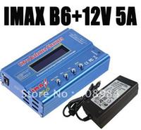 12v şarj cihazı adaptörü toptan satış-Toptan-ücretsiz gönderim IMAX B6 Dengesi Şarj Cihazı + 12V 5A AC adaptörü