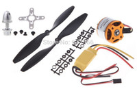 Wholesale Motor Brushless For Aircraft - Wholesale-1pcs A2212 1000KV Brushless Outrunner Motor + 1pcs 30A ESC + 1pcs 1045 Prop (B) Quad-Rotor Set for RC Aircraft Multicopter