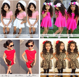 Wholesale Tiger Tutu - 2015 new arrival girls dress European style fashion cool tiger leopard dot dress baby girls clothing summer free shipping Wholesale