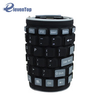 Wholesale Usb Wireless Silicone Keyboards - Wholesale-Flexible 2.4G Mini Wireless Silicone Keyboard Mute Waterproof Foldable can Washable for PC Tablet Laptop Computer