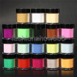 Wholesale Kits For Acrylic Nails - Wholesale-Wholesale 18pcs Color Acrylic Powder for Nail Art Tips UV Glitter Polish Kit Decorate Set Free Shipping