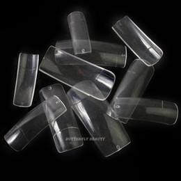 Wholesale Natural Full Nail Tips - Wholesale-500 Pro Clear Half Well False Acrylic Nail Art Tips fake nail artificial nails K47